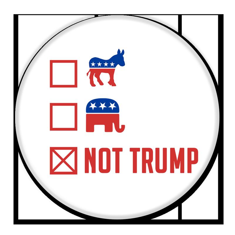 anti trump campaign button