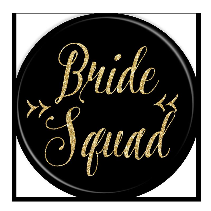 Bride Squad Black & Gold