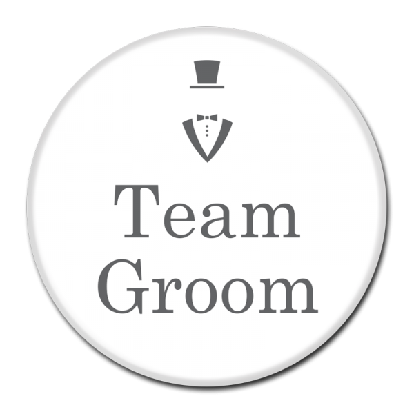 TEAM GROOM BUTTON - 318