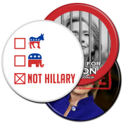 Anti Hillary Buttons