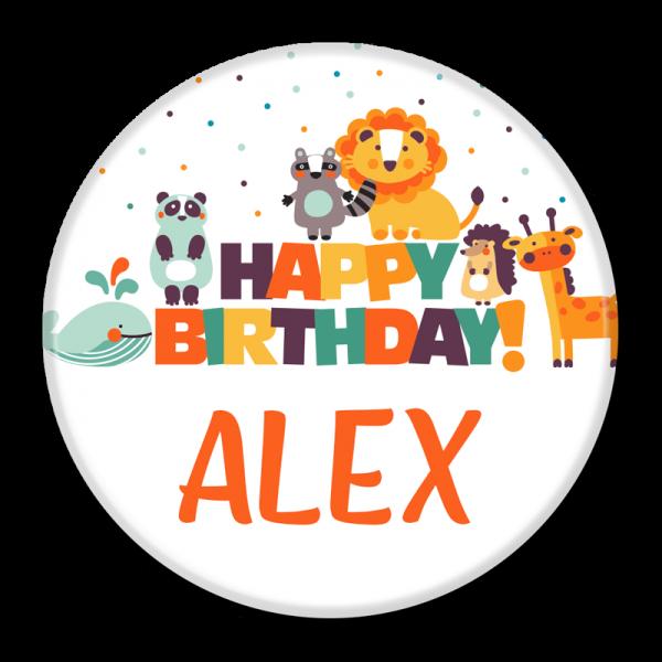 Birthday Buttons - Happy Birthday Alex