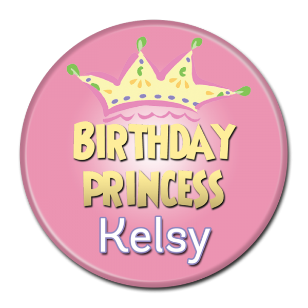 Birthday Buttons - Princess Kelsey