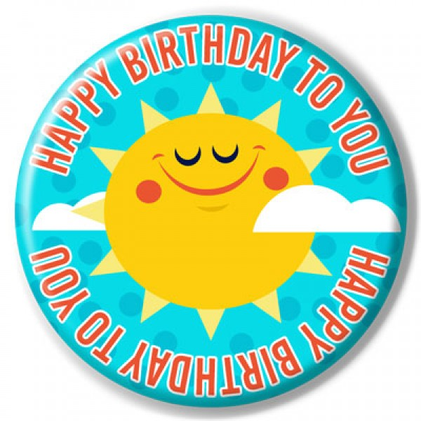Birthday Buttons - Happy Birthday To You