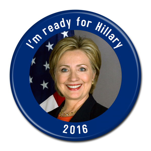 Hillary Clinton Button 302