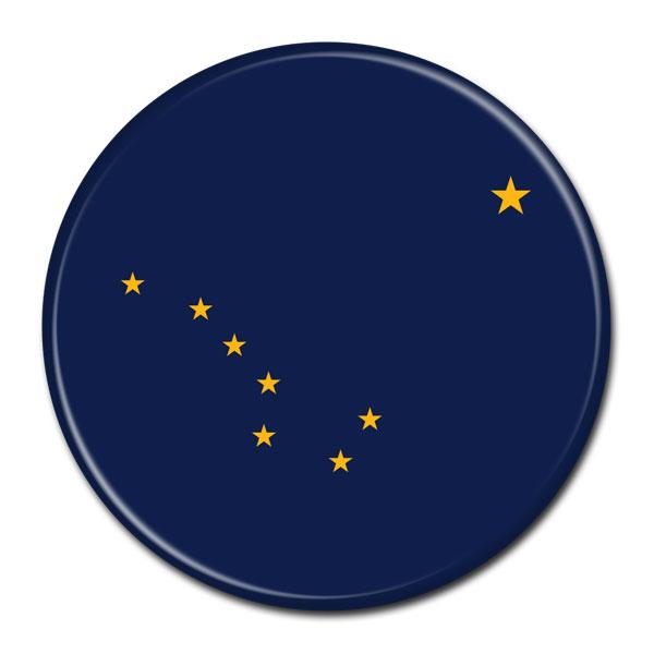 FLAG BUTTON - Alaska