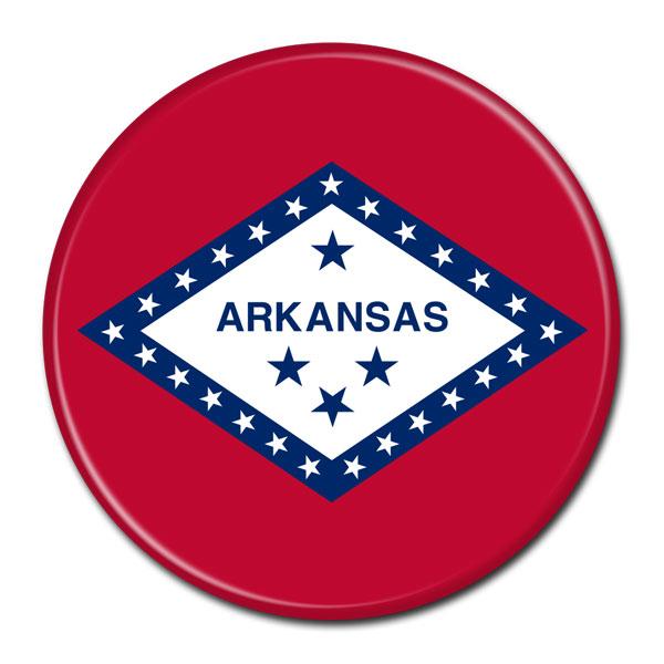 FLAG BUTTON - Arkansas