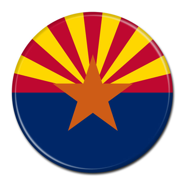 FLAG BUTTON - Arizona
