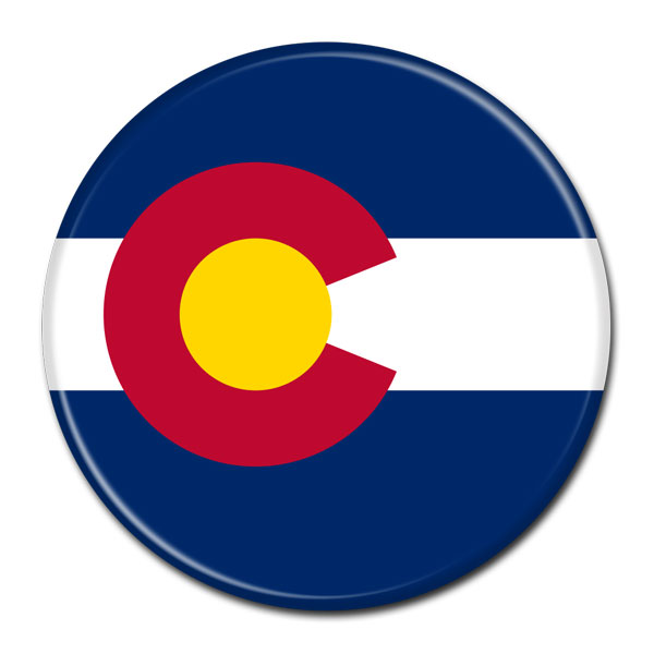 FLAG BUTTON - Colorado