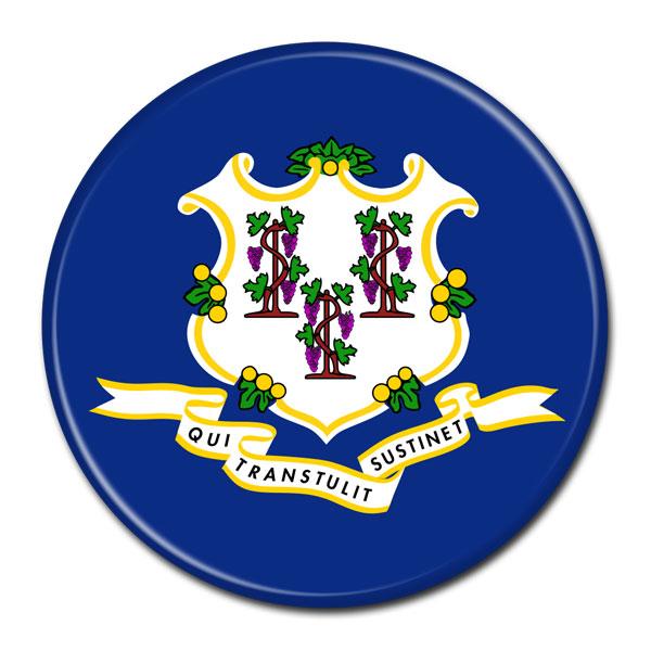 FLAG BUTTON - Connecticut