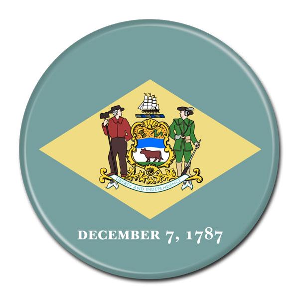FLAG BUTTON - Delaware