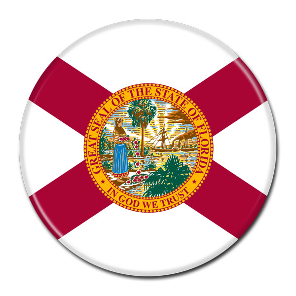 FLAG BUTTON - Florida