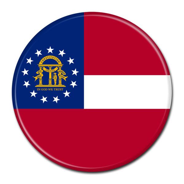 FLAG BUTTON - Georgia
