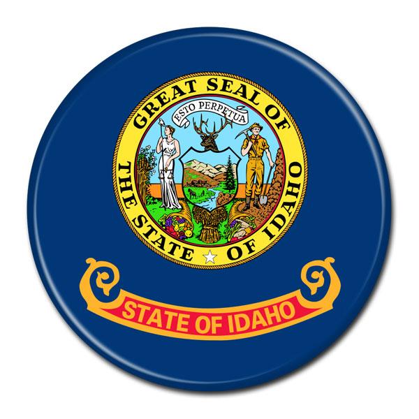 FLAG BUTTON - Idaho