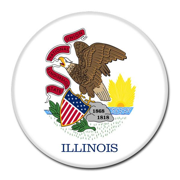 FLAG BUTTON - Illinois