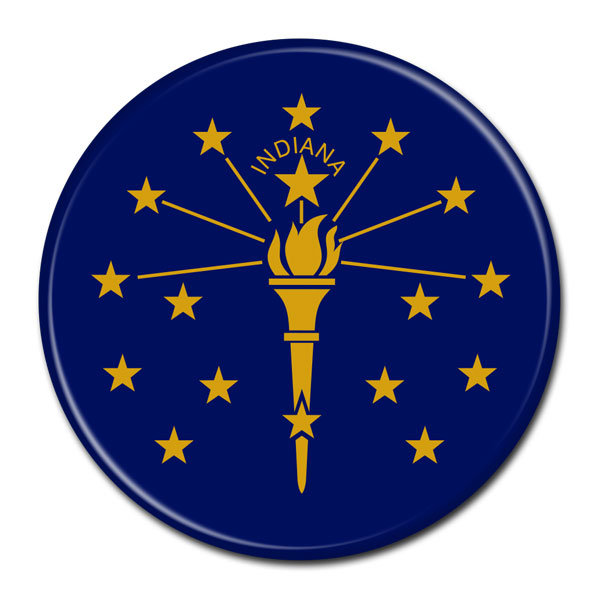 FLAG BUTTON - Indiana