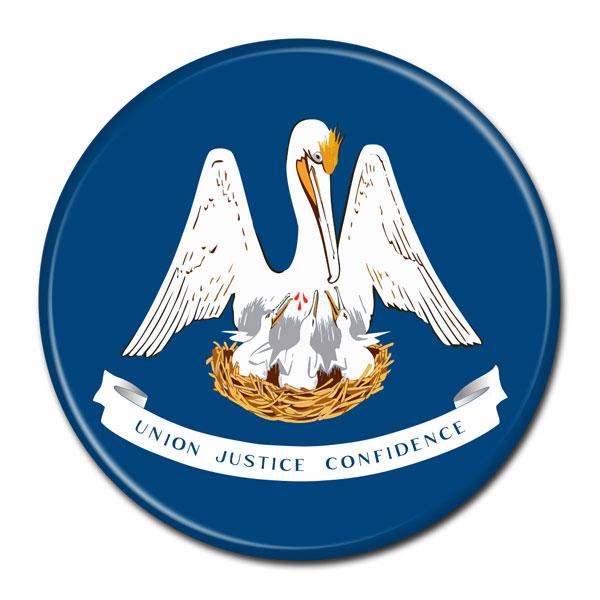 FLAG BUTTON - Louisiana