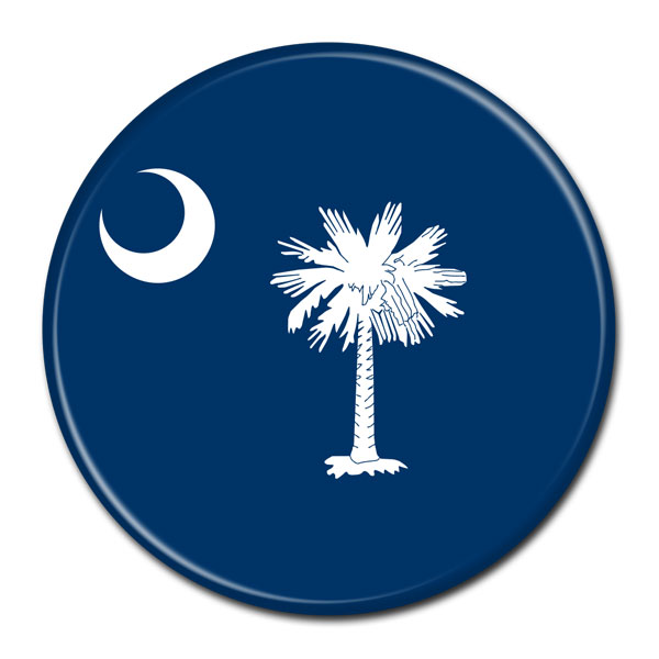 FLAG BUTTON - South Carolina