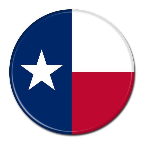 FLAG BUTTON - Texas