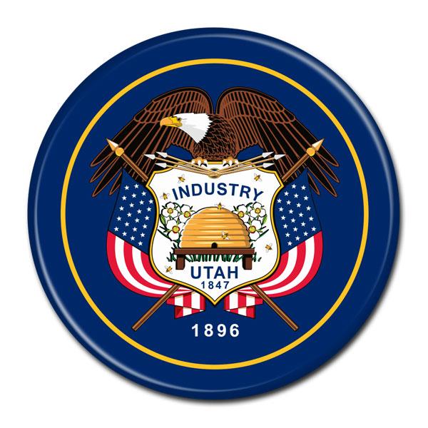 FLAG BUTTON - Utah