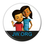 JW.ORG Caleb and Sophia ROUND Premium Buttons
