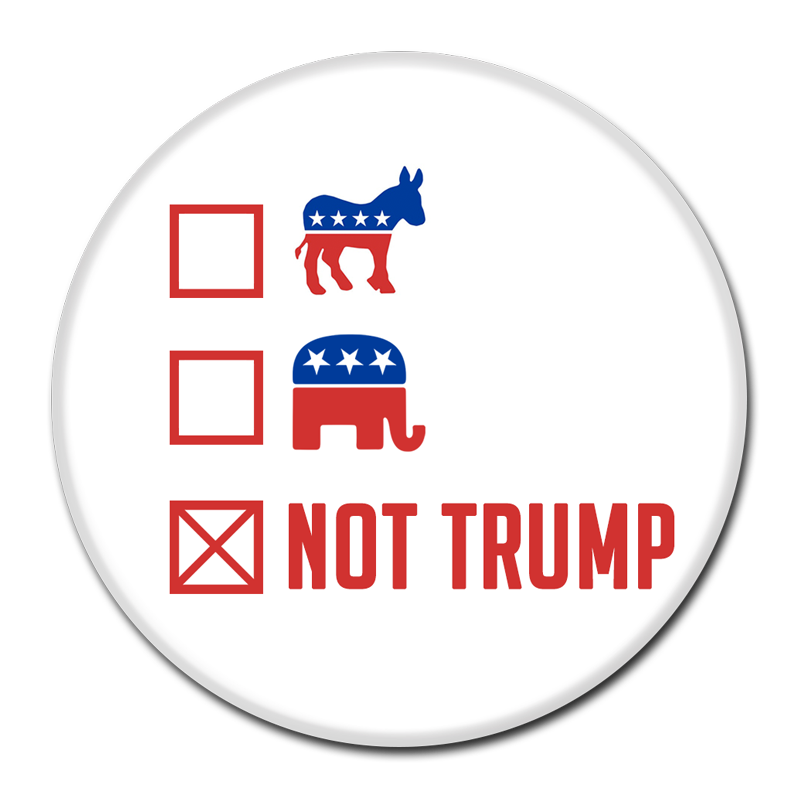 anti trump campaign button. Black Bedroom Furniture Sets. Home Design Ideas