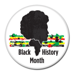 Black History Month Buttons - Africa Silhouette