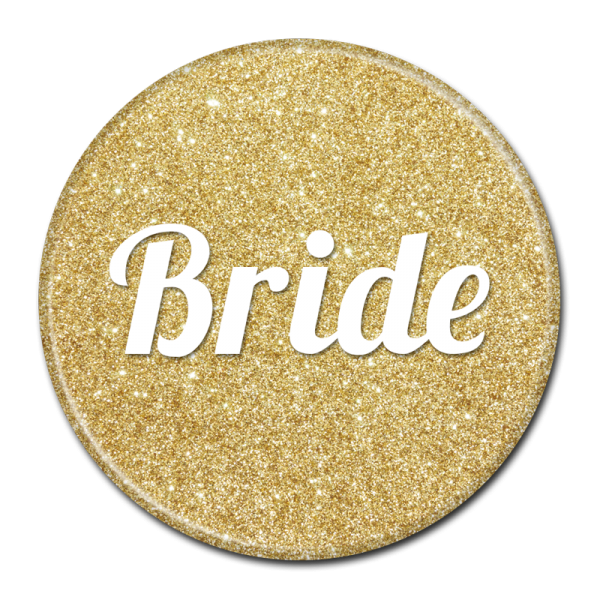 Bride Buttons - Gold Sparkle