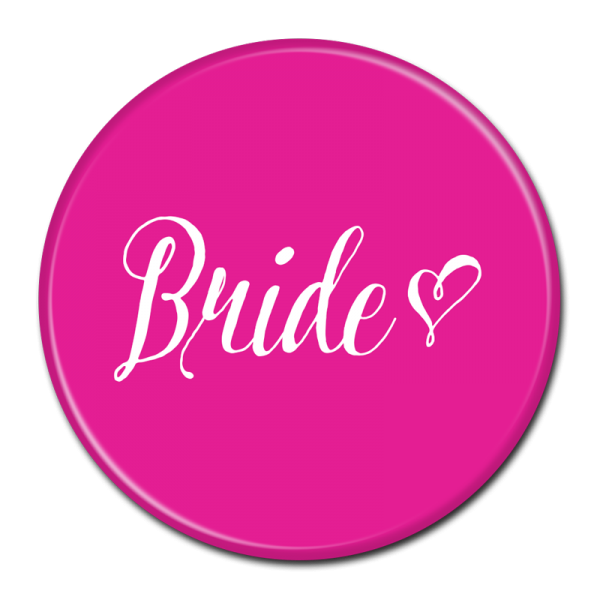 Bride Buttons - Pink Heart