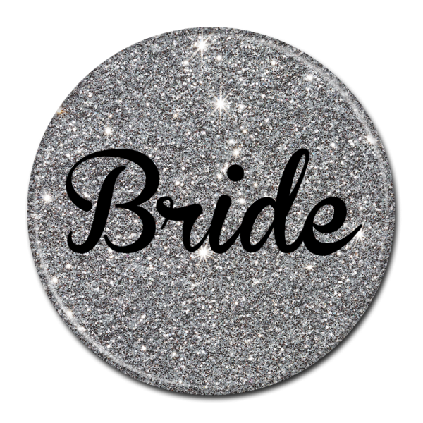 Bride Buttons - Silver Sparkle