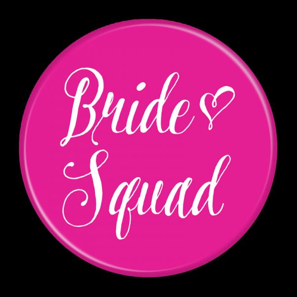 Bachelorette Party Buttons - Bride Squad Pink