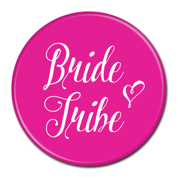 Bachelorette Party Buttons - Bride Tribe Pink
