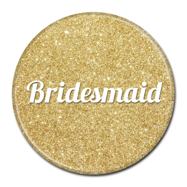 Bachelorette Party Buttons - Bridesmaid Gold Sparkle