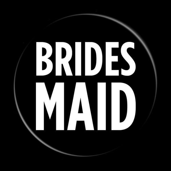 Bachelorette Party Buttons - Bridesmaid Black & White