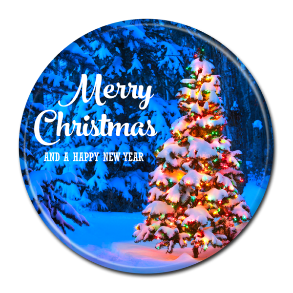 CHRISTMAS BUTTON -  303
