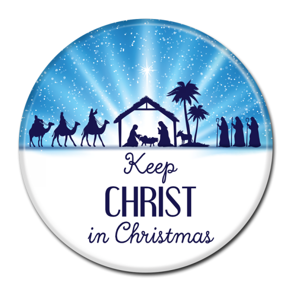 CHRISTMAS BUTTON -  305