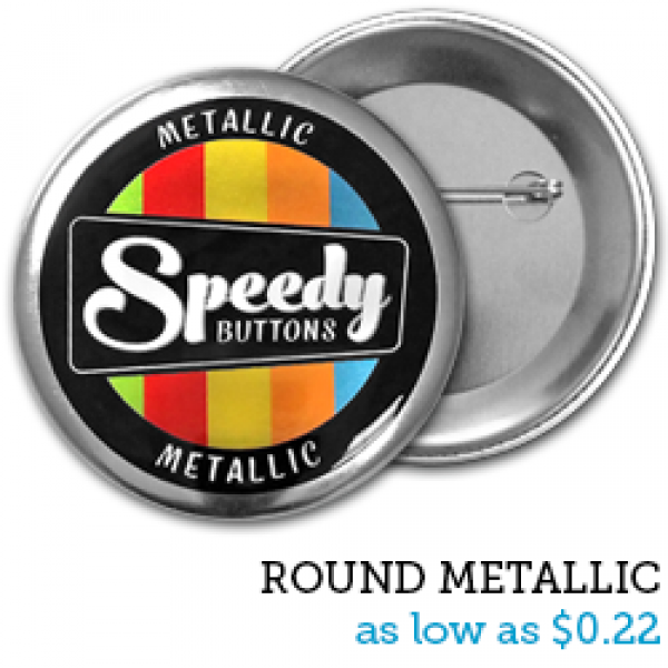ROUND Metallic Buttons
