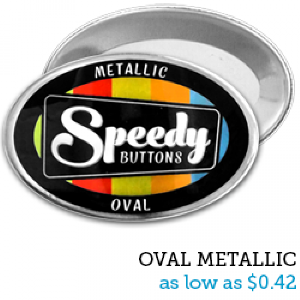 OVAL Metallic Buttons