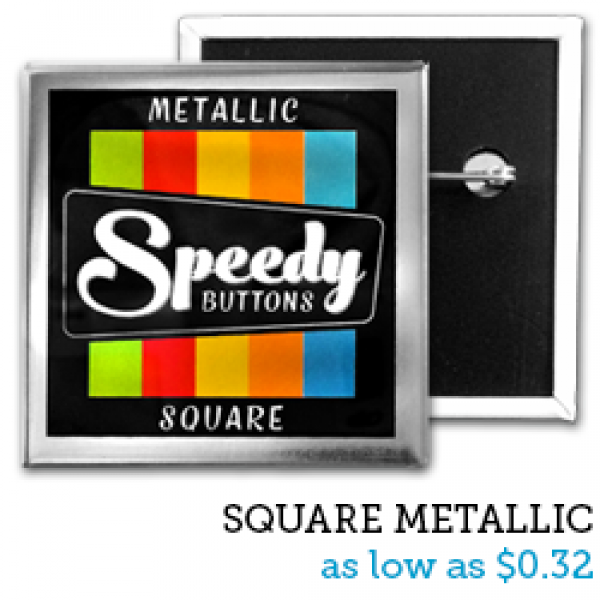 SQUARE Metallic Buttons