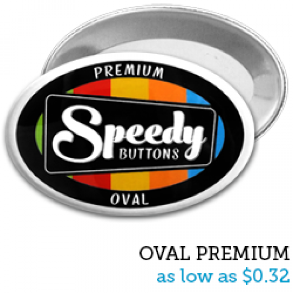 OVAL Premium Buttons