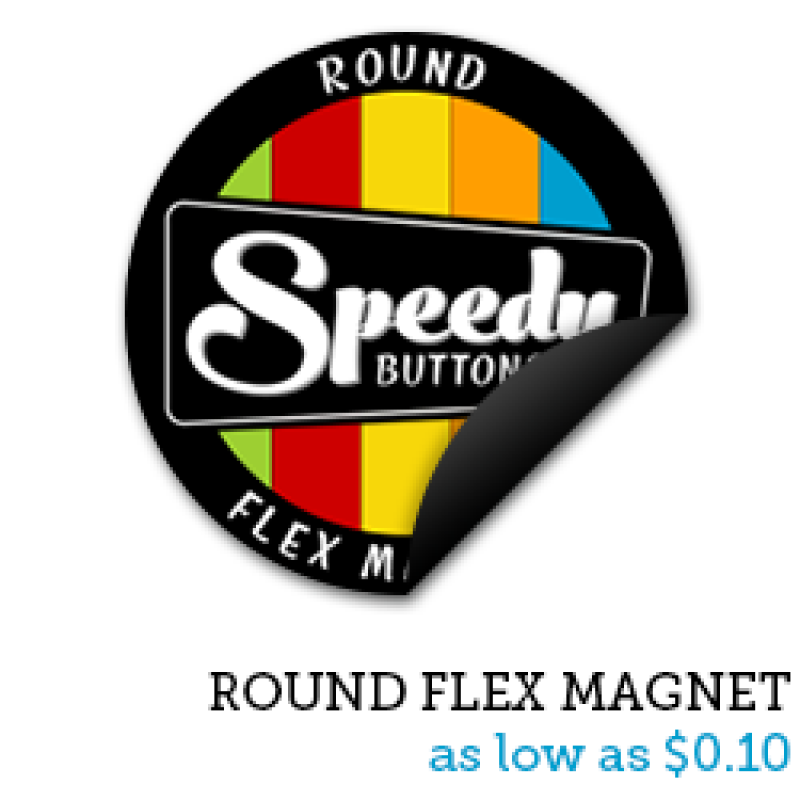 Round Flexible Magnets | Custom Magnets | Business Card Magnets