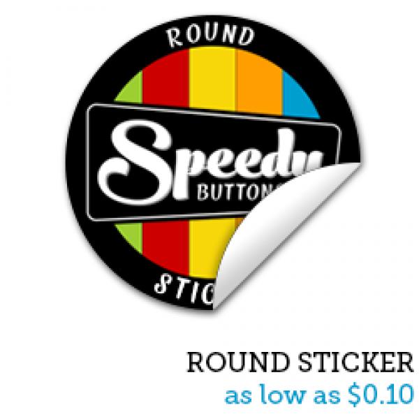 ROUND Premium Stickers