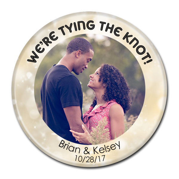 Wedding Buttons - We're Tying The Knot